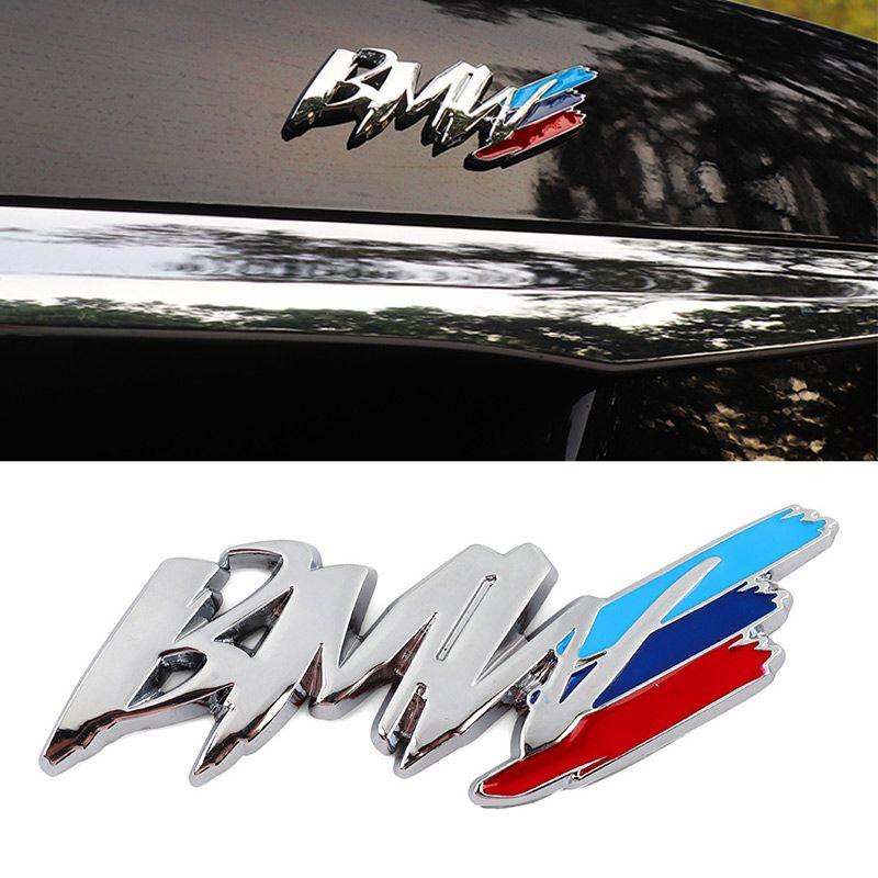bmw m3 m5 1 3 4 5 시리즈 x1 x3 x5 m 자동차 스타일링 중국 그물 수정 된 펜더 사이드 로고 자동차 스티커 장식 액세서리