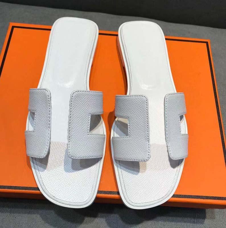 Classics Fashion Women Slipper Sandals Solkers Summer Sexy Real Cuero Plataforma Planos Pisos Zapatos Ladies Beach Slippers Home011 17