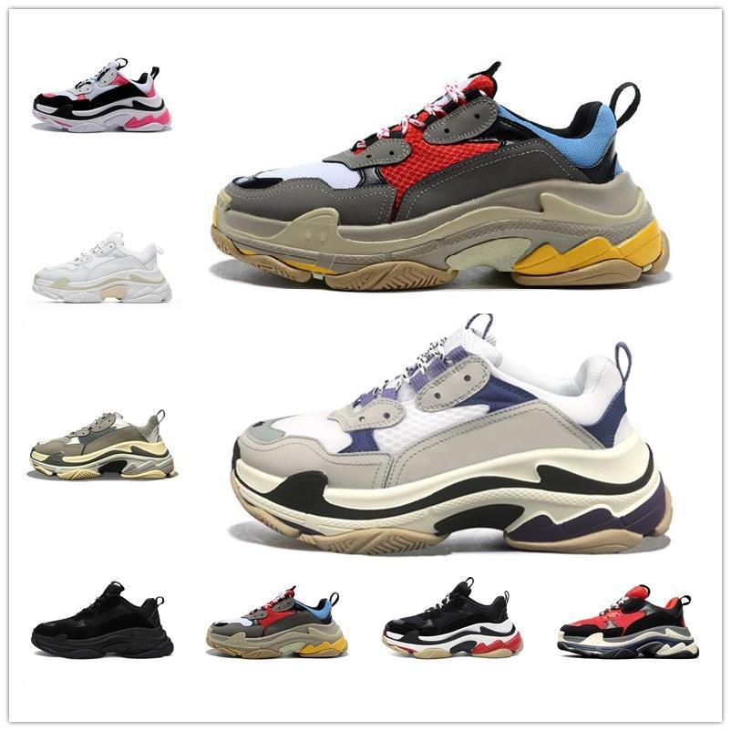 Balenciaga Triples cushion old shoes [En stock]balancigca balencica Triple S 17fw Mode Hommes Femmes Papa Chaussures Tripler BigSized Sneaker Plateforme Semelle Retro Scarpe Femmes