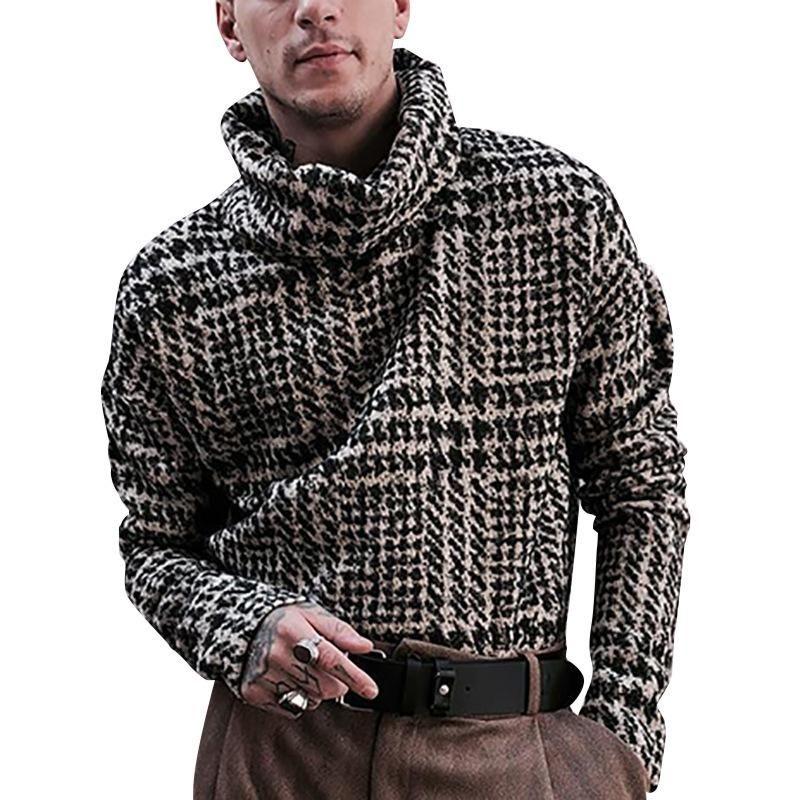 Uomo maglioni stile strada stile torta maglione uomo l xl manica lunga maglia pullover a maglia autunno inverno morbido caldo di base