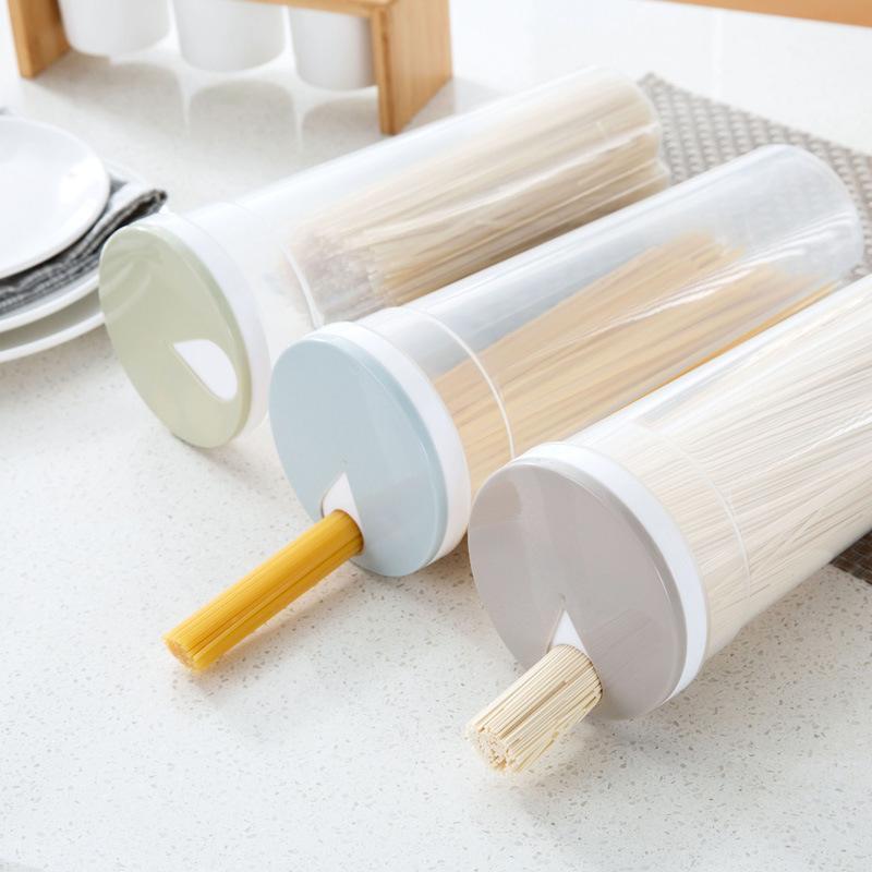 Caja de almacenamiento de fideos multifunción Caja de espaguetis Chopsticks Contenedor Almacenamiento Recipiente Caja de cocina Caja de contenedores