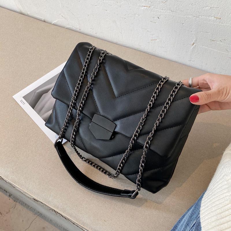 Taille Taschen Casual Thread Kette Crossbody Für Frauen Mode Einfache Umhängetasche Damen Designer Handtaschen PU Leder Messenger