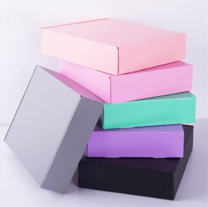 15 * 15 * 5 cm Gri Siyah Pembe Kağıt Ambalaj Karton Kutu Süsler Eşarp Kravat DIY Hediye Ambalaj Kağıt Karton Kutusu