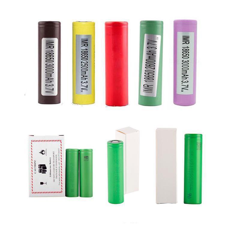Hight Quality INR18650 25R HG2 30Q VTC6 3000mAh HE2 HE4 2500 mAH VTC5 18650 Bateria Vape MOD Bateria de lítio recarregável para Sony Samsung LG