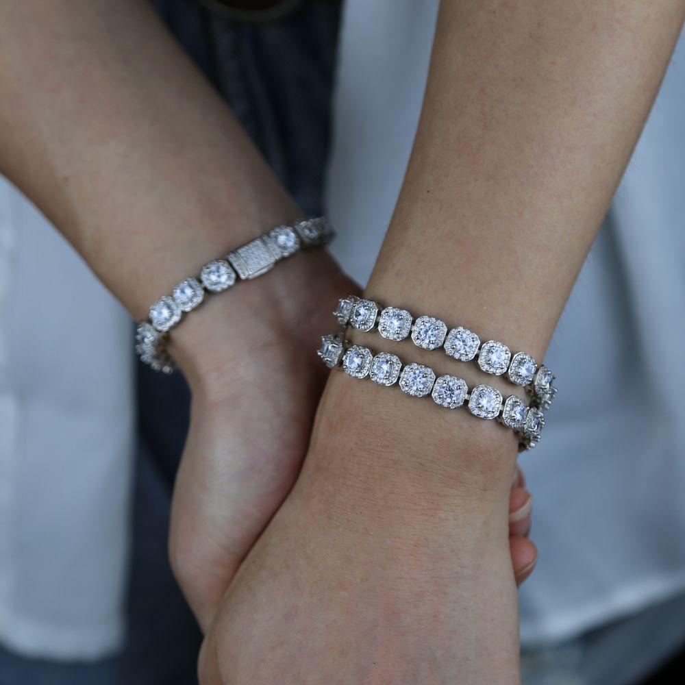 Oiseau blanc bling cz bijoux 5a cubique zirconia cz bracelet de chaîne de tennis de tennis glace girl girl femme bijoux