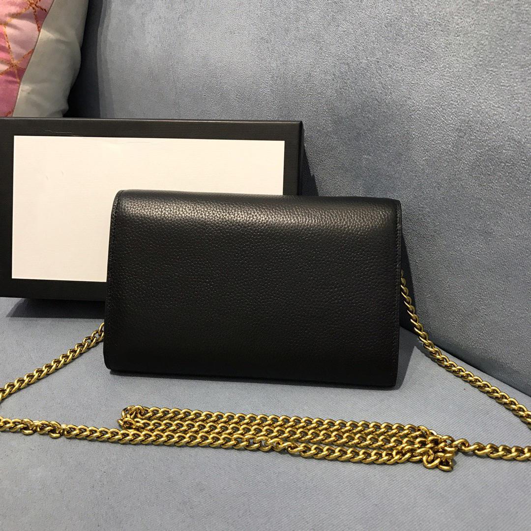 원래 상자 패션 여성 메시지 가방 핸드백 정품 가죽 메신저 지갑 크로스 바디 어깨 가방