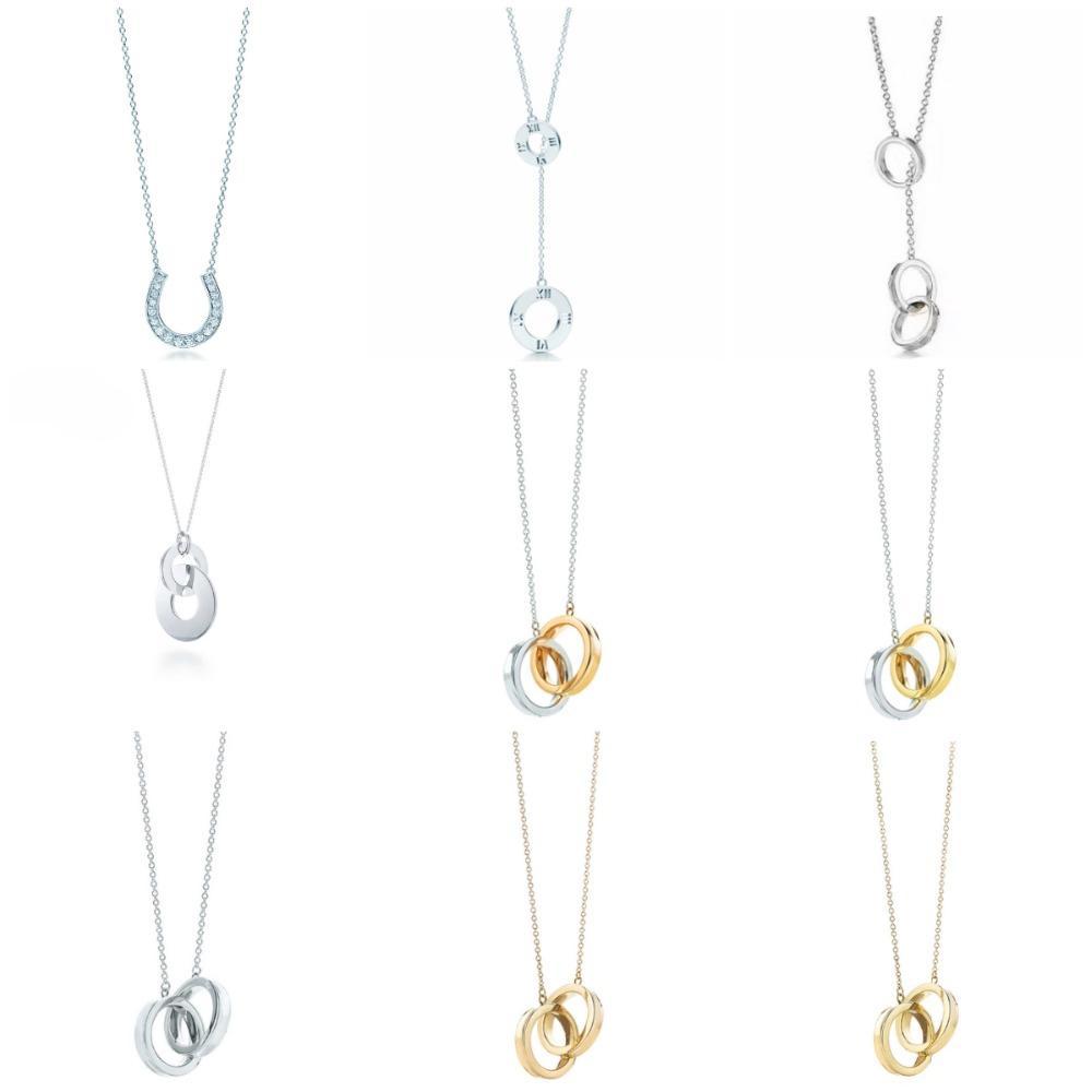 Original TIFF 925 Sterling Silber Mode Hufeisenring Verriegelung Stil Elegante Trend DIY Halskette Anhänger Schmuck Geschenk