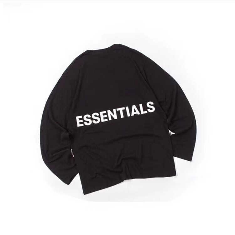 Camicie Justin Bieber Same High Street Fog Doppia Linea Essentials Manica lunga T-shirt Moda