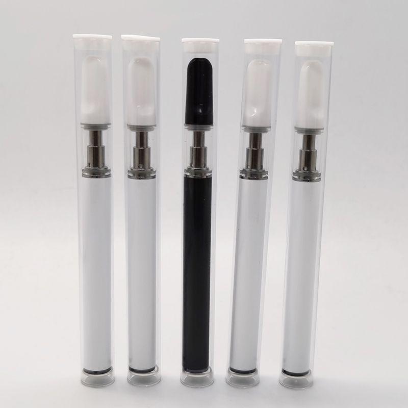 Keramikspule Einweg-Vape-Stift 350mAh lang stehender Batterie Matte Oberfläche weiche Touch-Ecig-Starter-Kits benutzerdefinierte Logo 0.5ml Leerer Vape-Stift