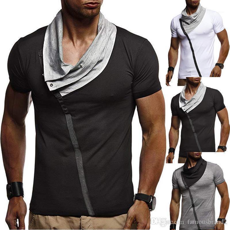 Designer à manches courtes courtes courtes Cool Casual Nouveau Tops T-shirts d'été Mens Hommes Iofqe