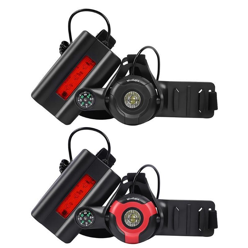 Bisiklet Işıkları Koşu Uyarı Açık Dönebilen Kamera Tutucu LED Gece USB Şarj Göğüs Lambası