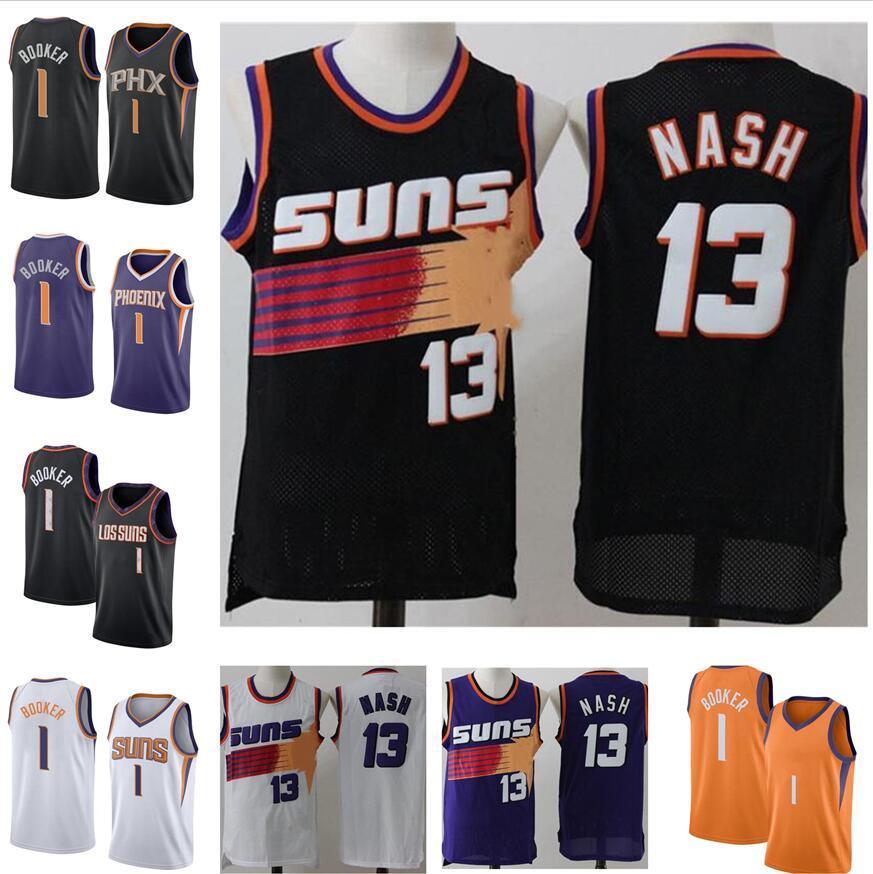 Jersey Basketball Steve 13 Nash Devin 1 Booker Chris 3 Paul Deandre 22 Ayton Jerseys