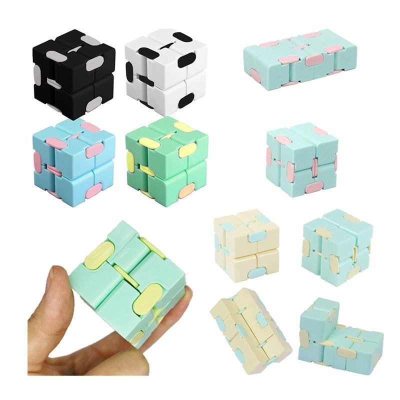 Neue Unendlichkeit Würfel Candy Farbe Zappeln Würfel Anti Stress Würfel Finger Hand Spinner Spaß Spielzeug Für Erwachsene Kinder Adhd Stressabbau Spielzeug