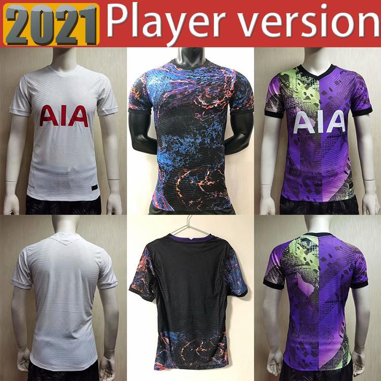 21 22 Dele Son Tottenham Bale Kane Soccer Jersey Hojbjerg Bergwijn Lo Celso Spurs 2021 2022 Lucas Player Versión Camisetas de fútbol Uniformes Hombres