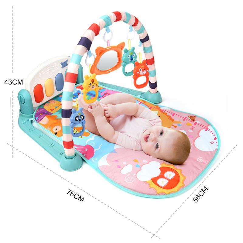 Tapetes de bebê Jogar Mat Educacional Quebra-cabeça Tapete com Piano Teclado Música Lullaby Kids Gym Rastejamento de Atividade Tapetes de Troys por 0-12 meses