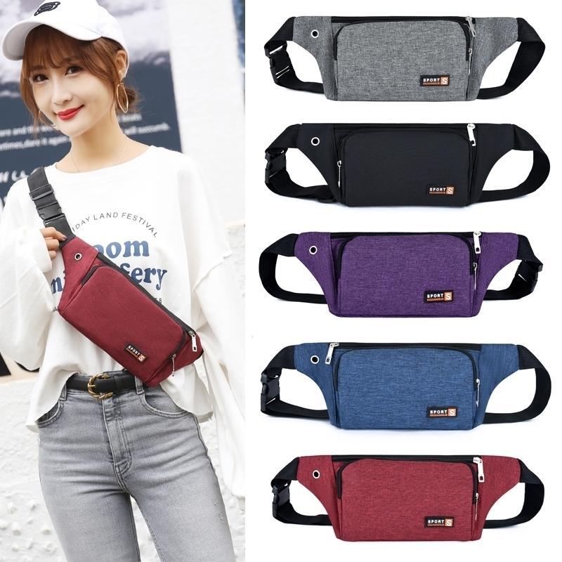 Nylon-Taille-Packungen für Frauen-Laser-Brusttelefon-Taschen-Brust-Taschen Fanny-Pack-Gürtel-Sling-Taschen 210311