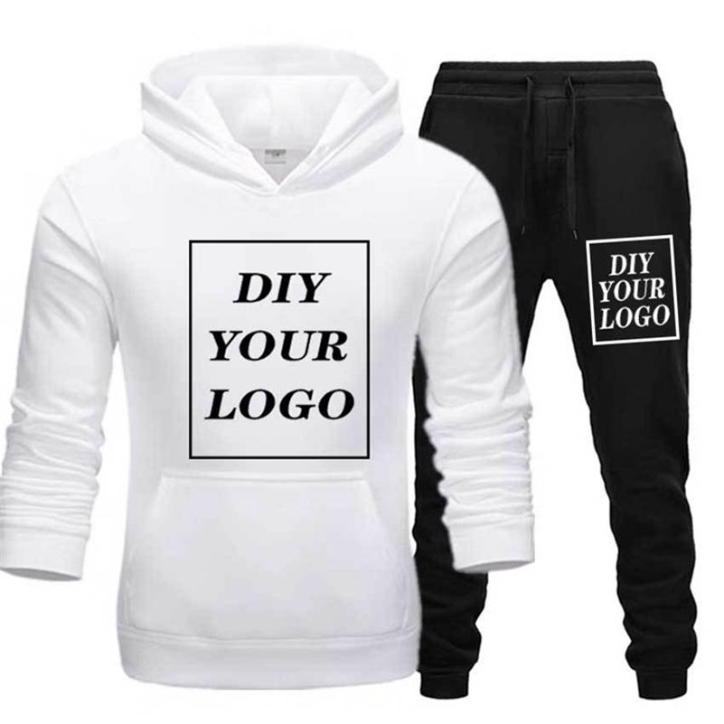 Customized Print Hoodies and pants thick Sweatshirt Comfortable Unisex DIY Streetwear tracksuit DropShipping Pullovers LJ201029