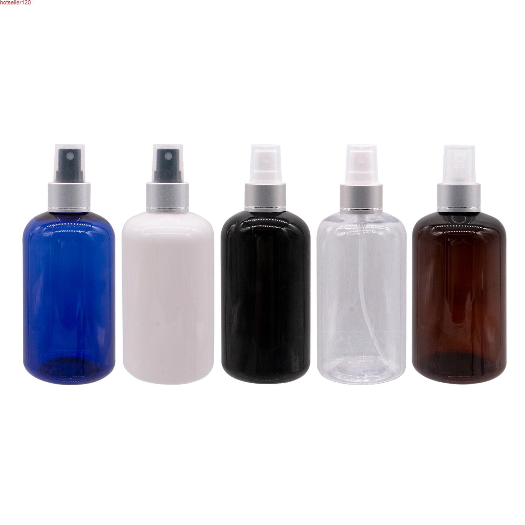 Gümüş Alüminyum Sprey Pompası ile Boş Plastik Parfüm Şişeleri 250 ml Kapasiteli 12 adet Pet Seyahat Şişe Spreyi KonteynerShigh Quatiy