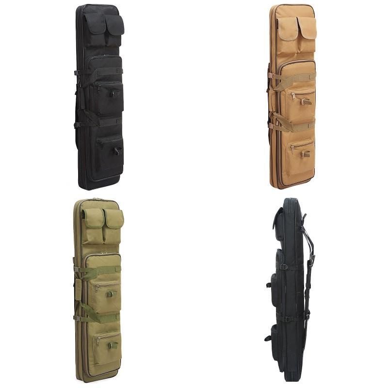새로운 120cm 라이플 총 사례 전술 총 가방 소프트 패딩 카빈 케이스 낚싯대 가방 배낭 Pistol Shotgun Airsoft 케이스 저장소 Q1201 210 W2