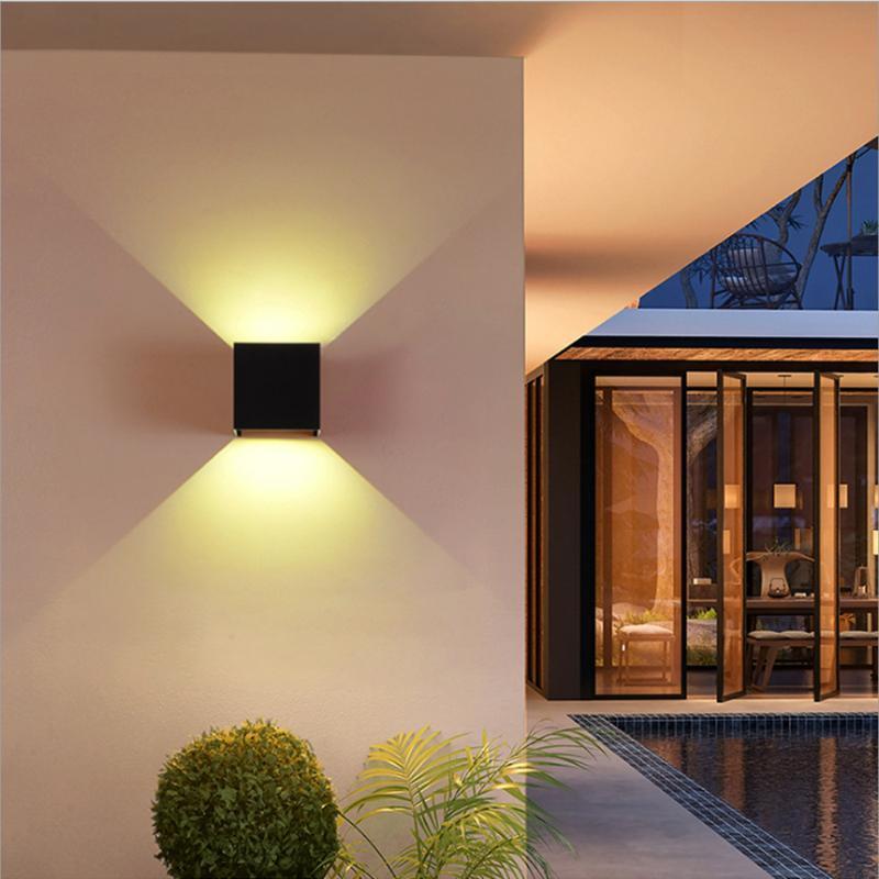 IP65 LED Su Geçirmez Duvar Lambaları 12 W Kapalı ve Açık Ayarlanabilir Duvar Işık Avlu Sundurma Koridor Yatak Odası Aplik