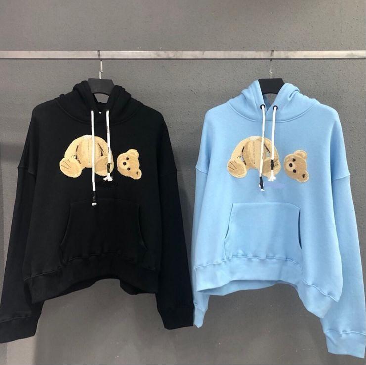 2021 novo 6 cor venda moda hoodie broken broken carrete de pelúcia urso na moda Terry explosão suéter estilo homens e mulheres tamanho s-2xl