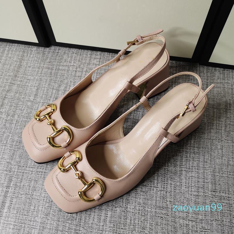 Горячие продажи-элегантные летние сандалии сексуальные моды высокие каблуки металлические пряжки толстые каблуки женские туфли новые женские свадебные свадебные ботинки красное платье