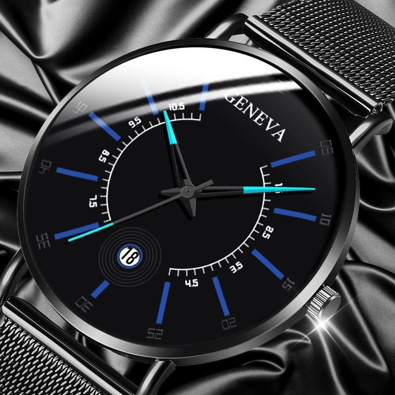 Montres Casual Hommes Montres de mode 2021 Business Sport Calendrier Acier Bracelet Quartz Montre de poignet pour Reloj Hombre