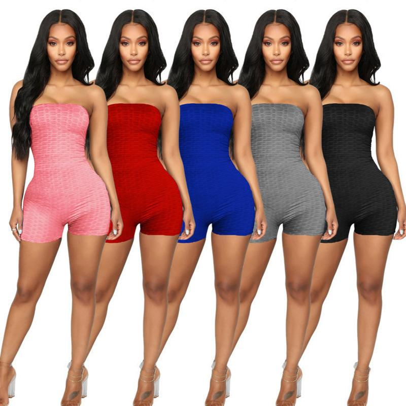 Womens Shorts One Piece Off Shoulder Overalls Jumpsuits Rompers Slim Crop Top Playsuit Fashion Comfortable Clubwear Sexy Jumpsuit 835