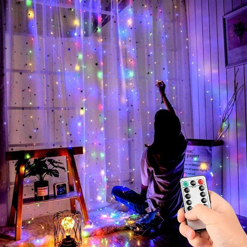 300led USB String Lights 3 * 3M Christmas Fada Luz de Fada Garland Lâmpada Interior Ao Ar Livre Casa Casa Festa de Casamento Cortina Jardim Decoração