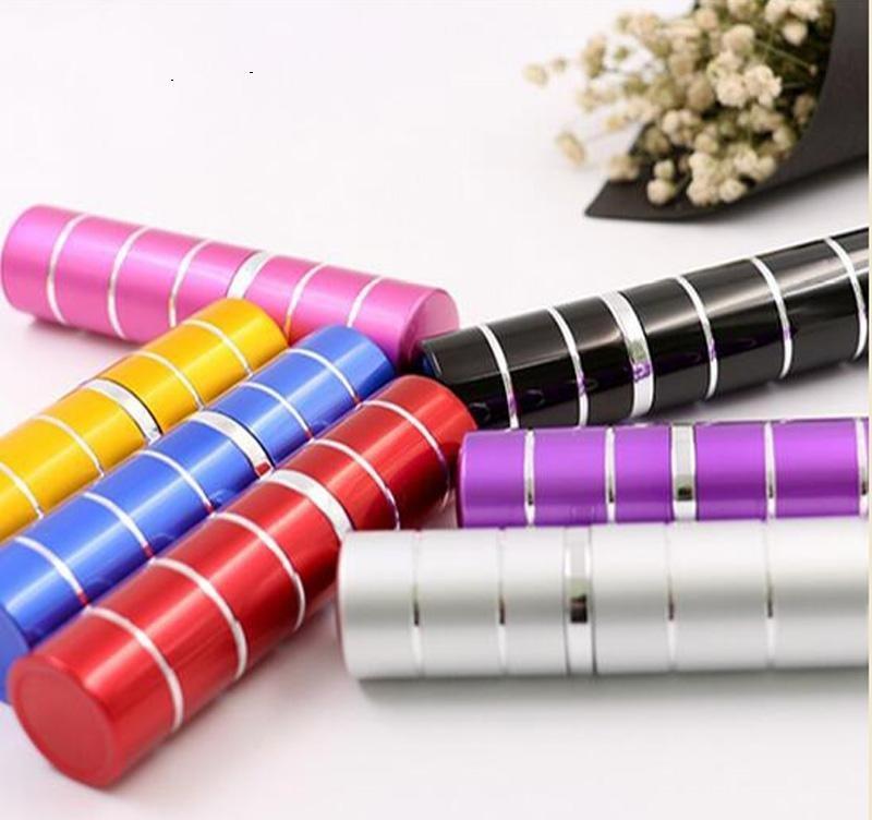 7 ألوان 10 ملليلتر 10cc 5cc 5 ملليلتر البسيطة ملون خط سفر رذاذ زجاجات العطور إعادة الملء المحمولة بذيء فارغة إسقاط الشحن 10PCS