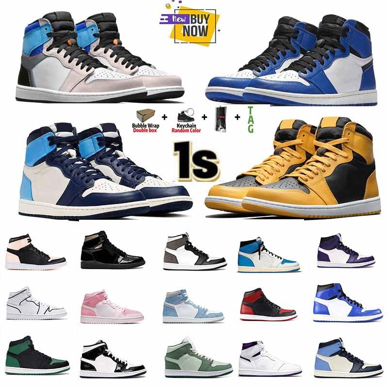 2021 air jordan jordans men women fearless chicago obsidian mocha satin retro shoes 1 1s low mens Jumpman basketball court grey 36-46