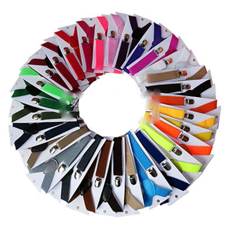 42 Farben Kinder Einstellbare Feste Baby Elasti-Zahnspangen Kinder-Hosenträger Clip 2.5 * 65cm E639