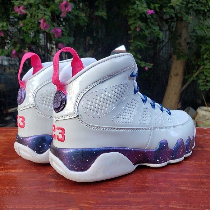 Скидка Новый Классический Белый JBC 9 Мужские Баскетбольные Обувь Высокая Милая Мода Розовый Multi Color 9s Мужские Наружные тренеры Спортивные кроссовки 40-47