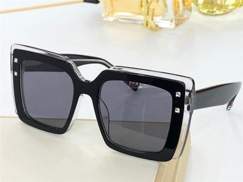 4187 المتقدمة الجديدة الساخنة النساء الأزياء النظارات الشمسية نمط الرجعية نمط مربع مع الترتر كريستال نظارات حماية مكافحة UV400 تأتي مع packag