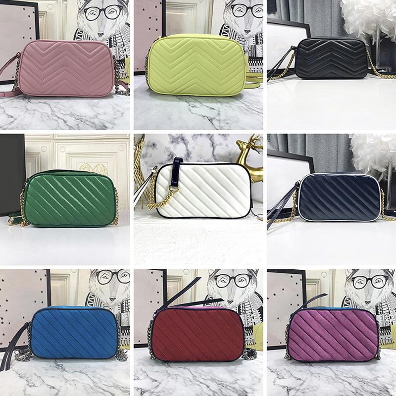 Kadın Tasarımcılar Lüks Kamera Omuz Çantaları Moda Klasik Dikiş Konu Deri Depolama Çanta Kadın Zincir Crossbody Çanta Sikke Çanta