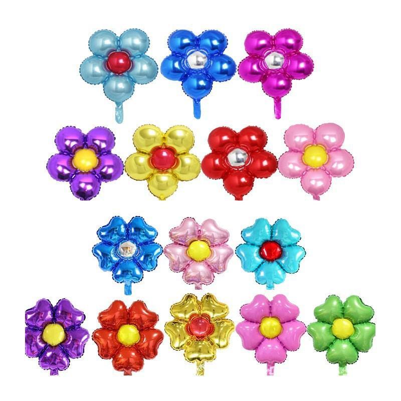 50cm 호 일 심장 꽃 풍선 꽃 모델 풍선 베이비 샤워 Globos 생일 파티 웨딩 장식 용품