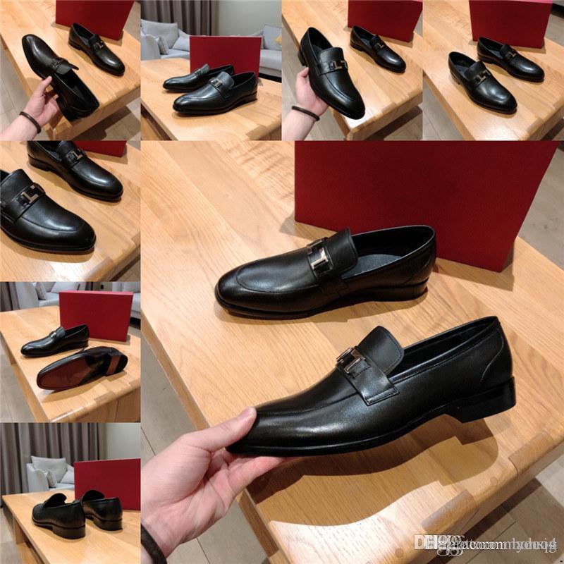 MM Hommes Luxury Robe Chaussures Cuir Automne Élégant Noir Mariage Noir Élégant Derby Designers Brousse Plateforme et Ascenseur Chaussures Invisible 33