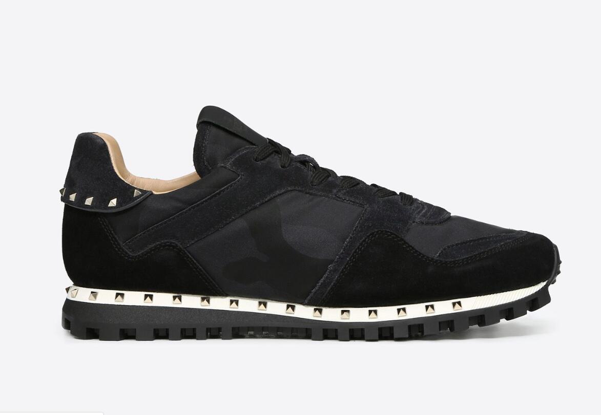 4 Renk Camo Süet Çivili Kamuflaj Kaya Ayakkabı Koşucu Sneaker Ayakkabı Kadın Erkek Için Çivili Rahat Lüks Tasarımcı Ayakkabı Sneakers Chaussures