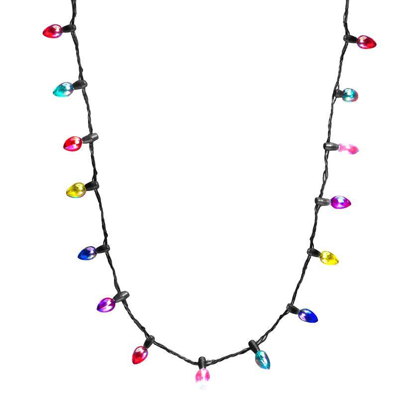 LED-Halskette Mini blinkende Beleuchtung Blinkende Weihnachtsbeleuchtung Kostüm Halskette 8 LED-Birne