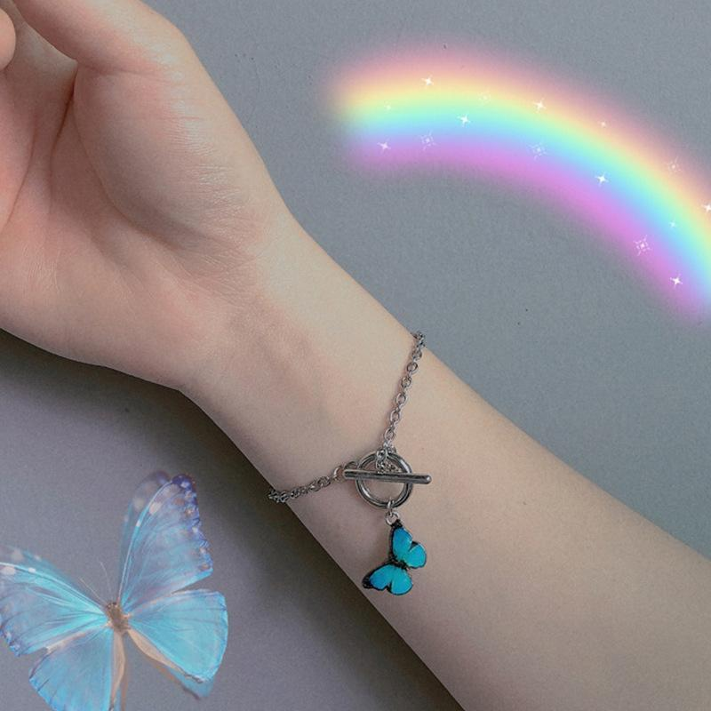 2021 Butterfly Couple Bracelets Ins Design Women Student Girlfriend Sister Gift Charms Butterfy Bracelet 1pc