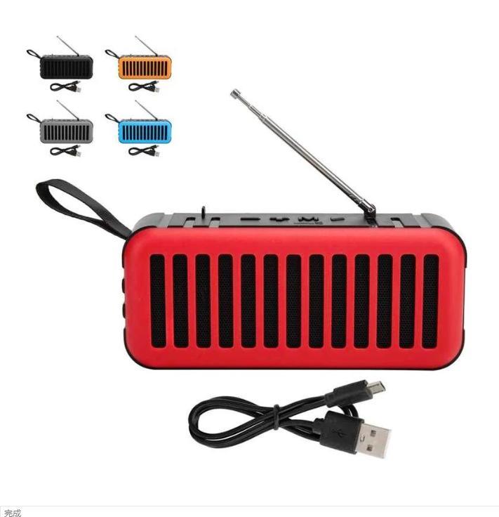 Wireless Bluetooth Speaker Mini Portable Speakers Solar Powered Subwoofer D6-2