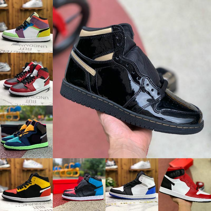بيع 2021 جديد 1 ثانية أحذية كرة السلة الرجال النساء التعادل صبغ og bio hack lightbulb الأزرق UNC براءات الاختراع الأبيض الأسود تويست الأخضر تو موتشا مدرب