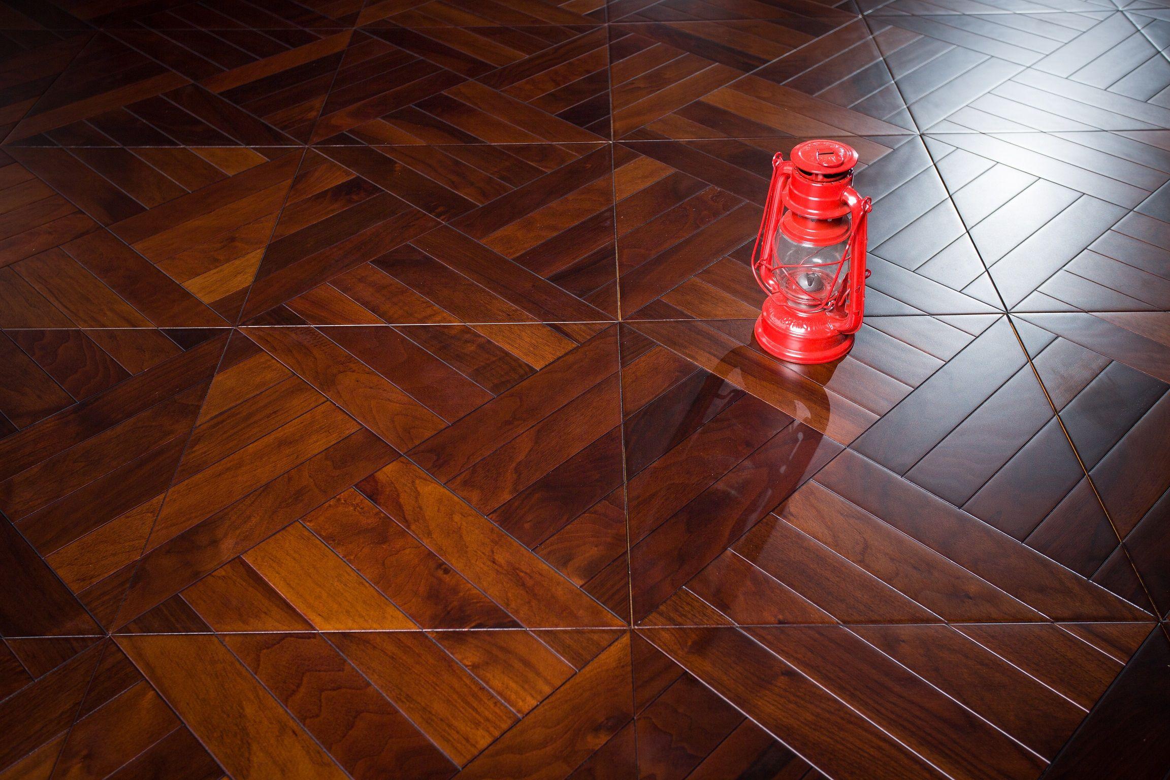 American Walnut Black color wood flooring hardwood parquet tile square shape marquetry inlay art deco interior wallpaper carpet High-end custom Designed