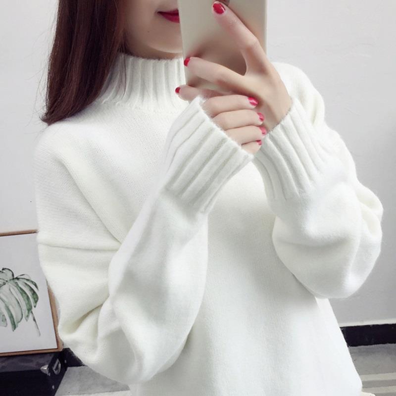 Зимняя кашемировая водолазка Turtleneck Pullover Женщины 2020 Осенний джемпер Pull Femme Hiver Streetwear Повседневная вязаный свитер KTA9
