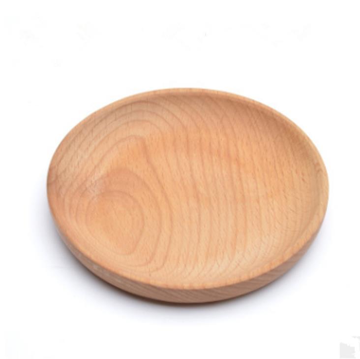Круглая деревянная тарелка блюдо десерт печенье тарелка блюдо фрукты блюдо блюдо чайный серверный поднос древесины чашки держатель чаша шиповник посуда коврик GWF5459