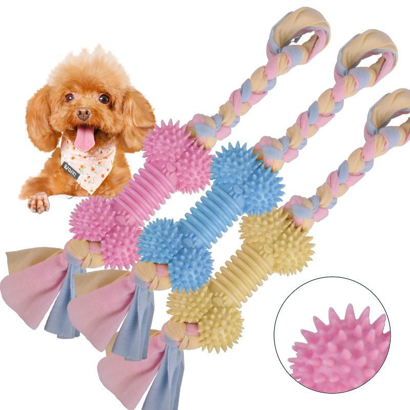 1 pcs Pets dogs pet supplies Pet Dog Molar stick Puppy Cotton Chew Knot Toy Durable Braided Bone Rope Funny Tool