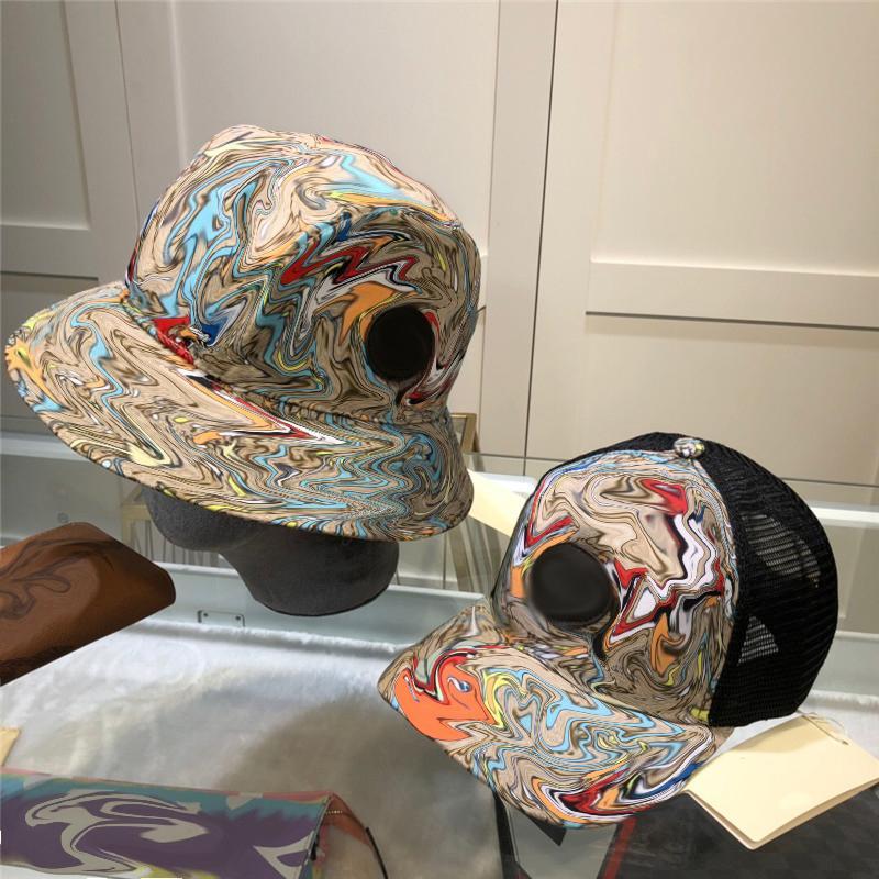 Moda Ördek Baskılı Balıkçı Şapka Tam Mektuplar Tasarımcı Unisex Ball Şapka Havzası Kapaklar Çift Kadın Erkek Kapaklar Yaz Seyahat Cap