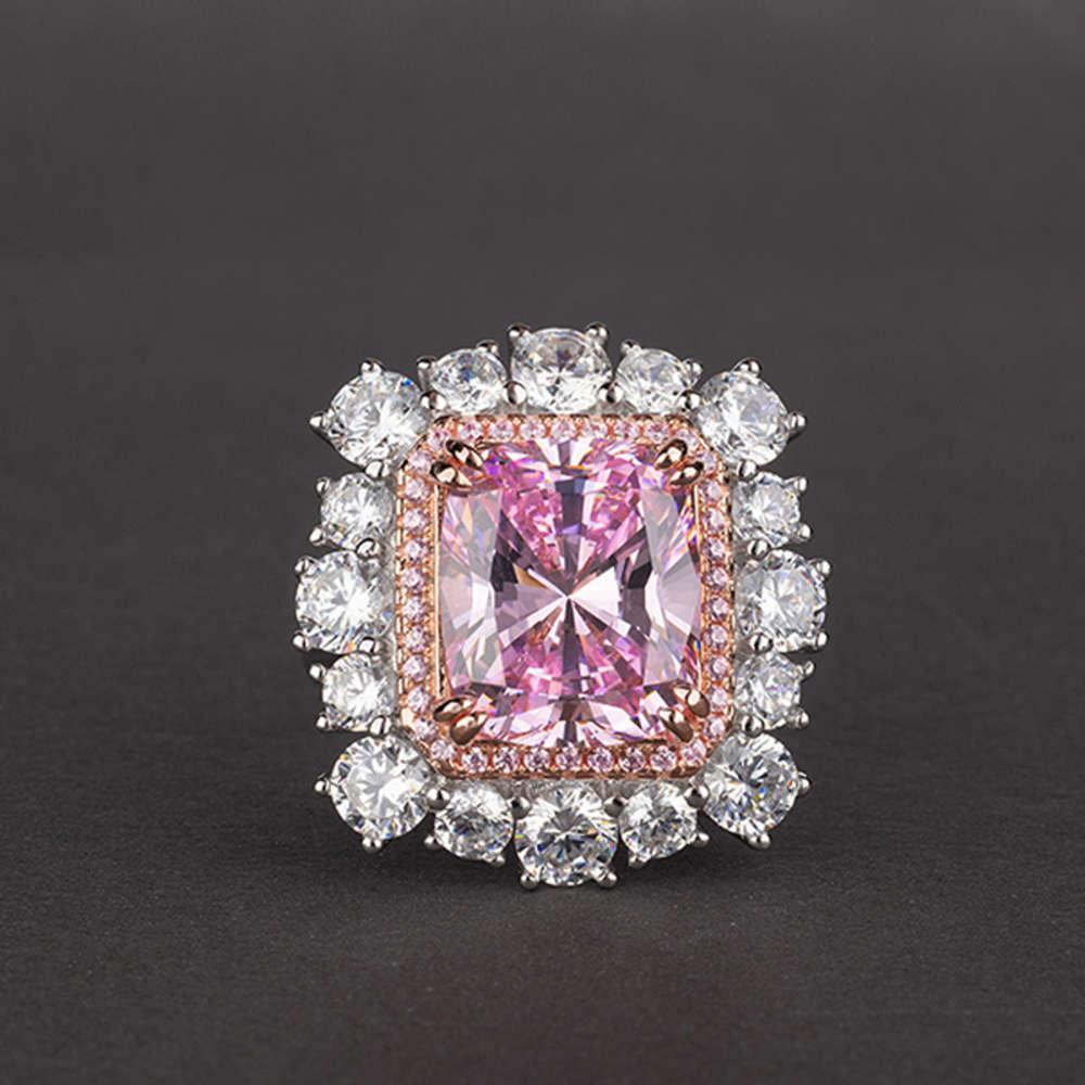 HBP Fashion Shi Pei Jewelry Luxury Edition grasso lungo 10 * 12 anello zircone 3a intarsiato