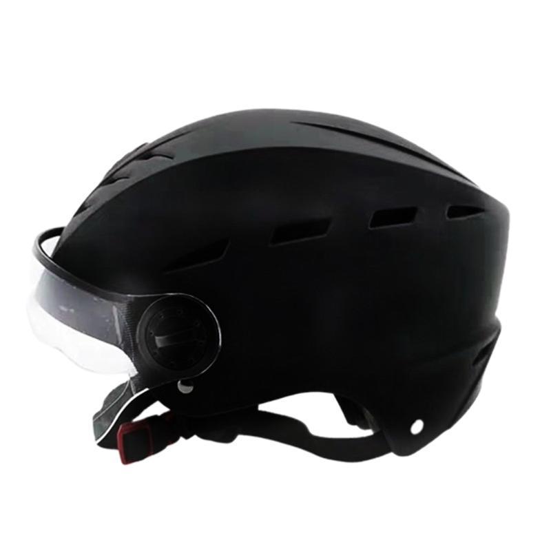 Motorradhelme Unisex ABS atmungsaktiv gegen Antireiche Sicherheit Erwachsene Radfahren Sommer im freien Reithelm halber Abdeckung leichte por