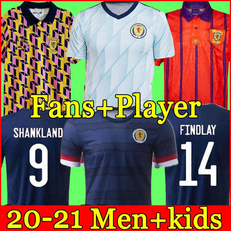 Nouvelle Écosse Football Jerseys Home 2020 2021 Robertson Fraser Shirt Football Naismith McGregor Christie Forrest McGinn Men Kids
